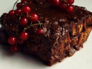 Шоколадный десерт с цукатами из помело