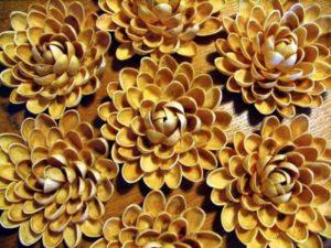 цветок из фисташек