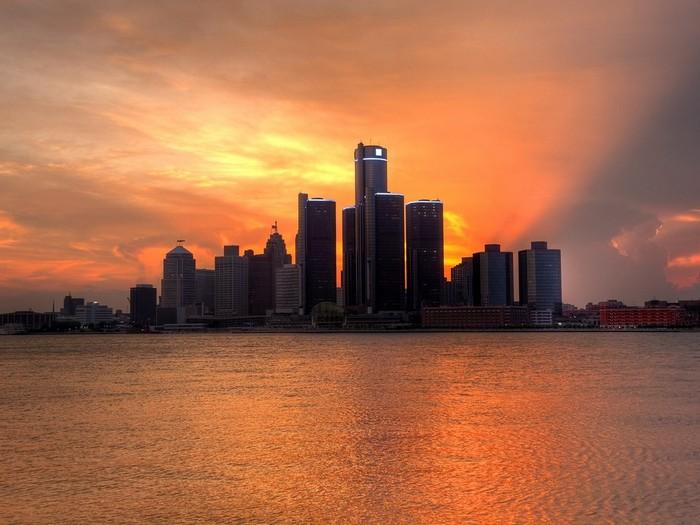 Вечерний Детройт
