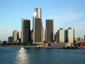 Город Детройт. Само название Детройт означает пролив