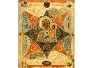 Икона Неопалимая Купина в Соловецком монастыре
