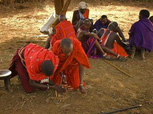 Первобытный огонь масаев