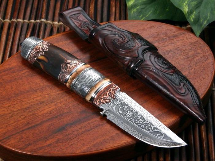 Коллекционный нож ручной работы