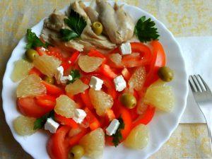Салат со свити и курицей