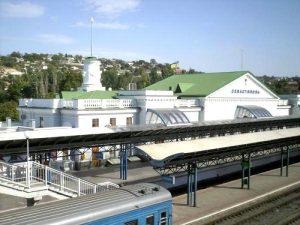 Современный железнодорожный вокзал