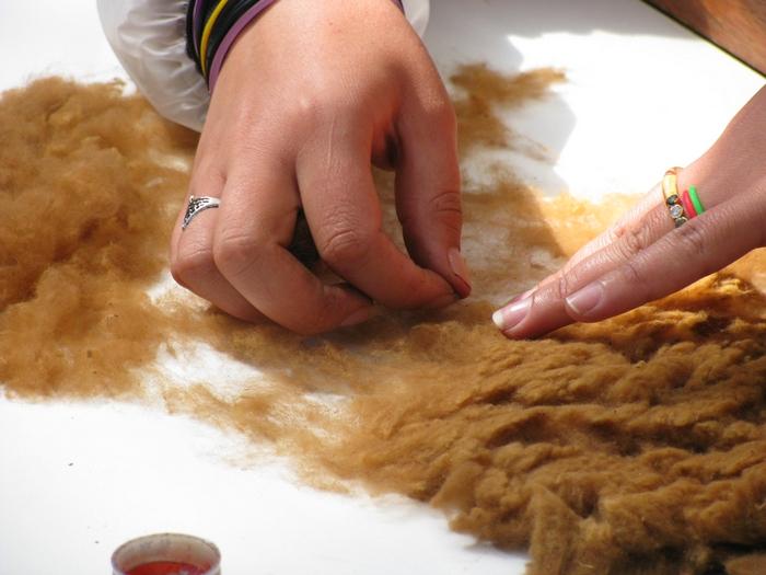 Ручная очистка шерсти