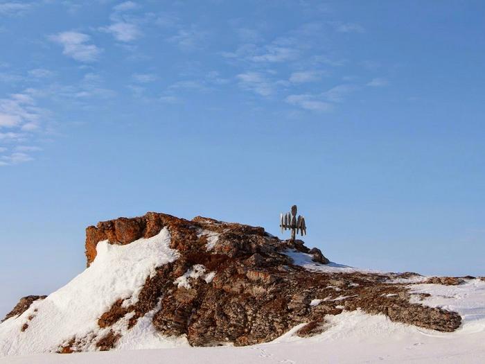 Святилище ненцев на острове Вайгач