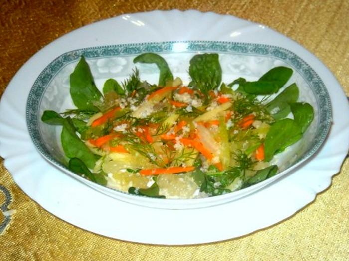 Салат из редьки с морковью и свити