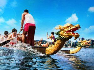 Фестиваль лодок-драконов в Китае: фото, видео