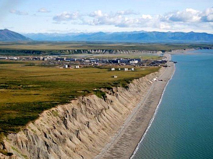 Остров Чкалова в Охотском Море