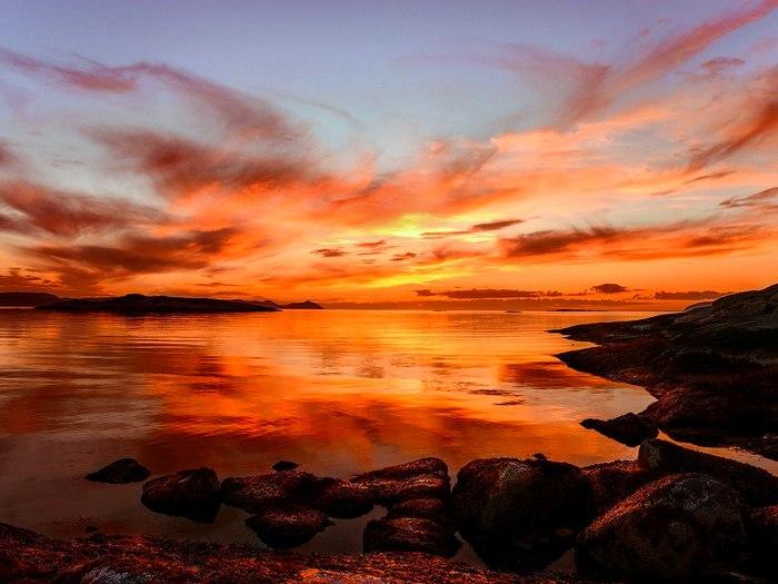 Закат на севере