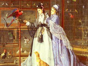 Дамы с попугаем