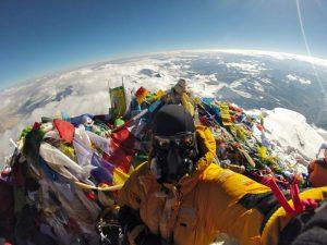 Эверест на самом верху