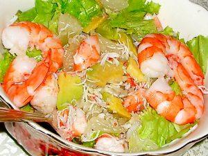 Салат с креветками и свити