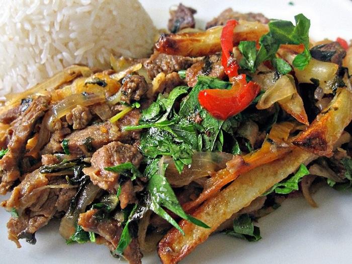 Блюдо из мяса викуньи