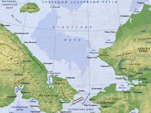 Карта Чукотского моря
