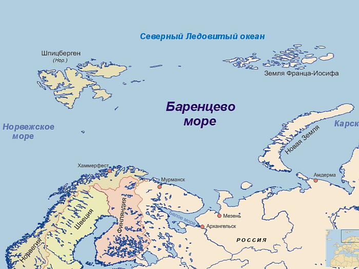 Карта моря