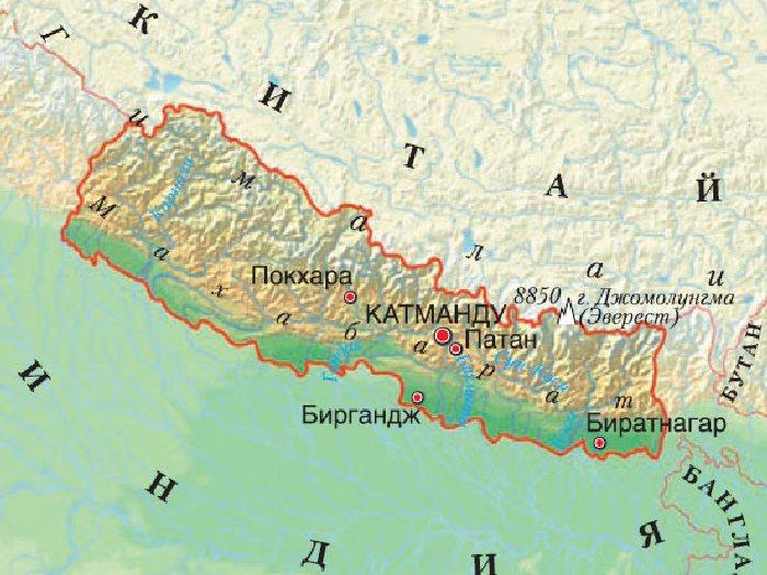 Карта Непала