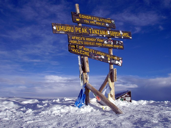 На вершине Килиманджаро