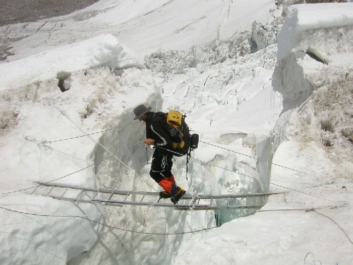 Ращелина в леднике.