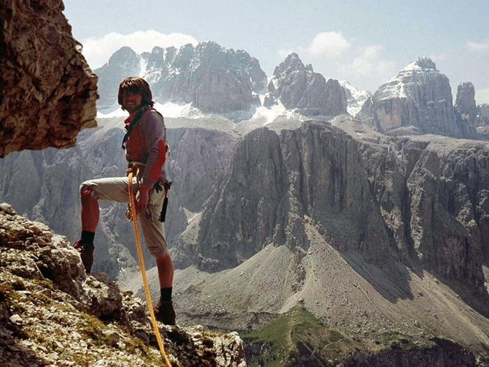 Райнхольд Месснер в горах
