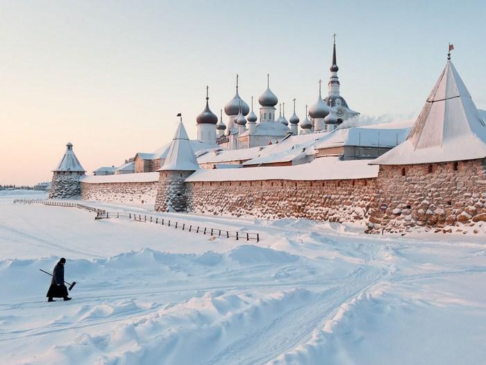 Зима на Соловецких островах