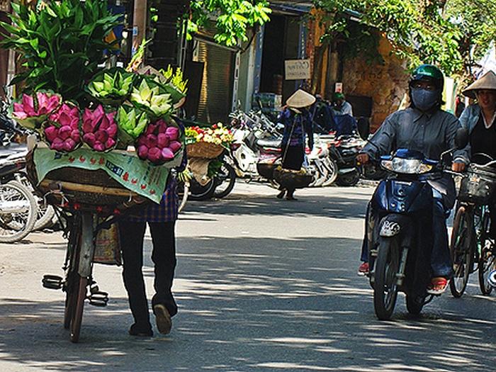 Продавцы лотоса в Ханое