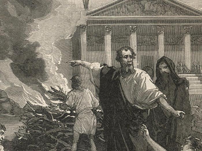 Гиппократ во время чумы
