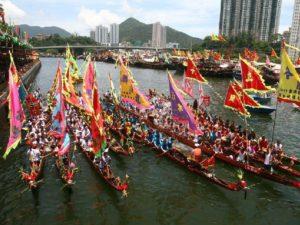 Фестиваль лодок-драконов фото