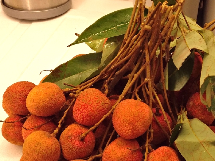 Lychee in shops of Moscow