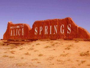 Въезд в Алис-Спрингс